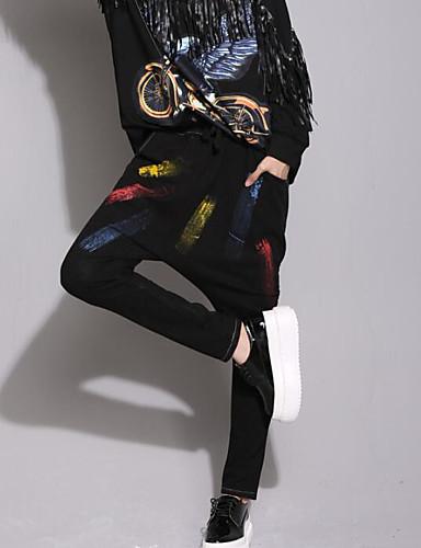 בגדי ריקוד נשים כותנה ג'ינסים מכנסיים דפוס / חורף / ליציאה