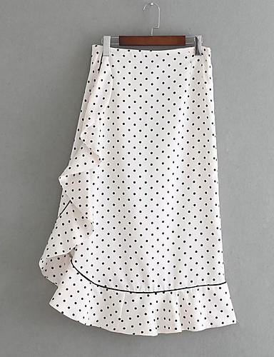 מנוקד - חצאיות נדנדה פשוט בגדי ריקוד נשים