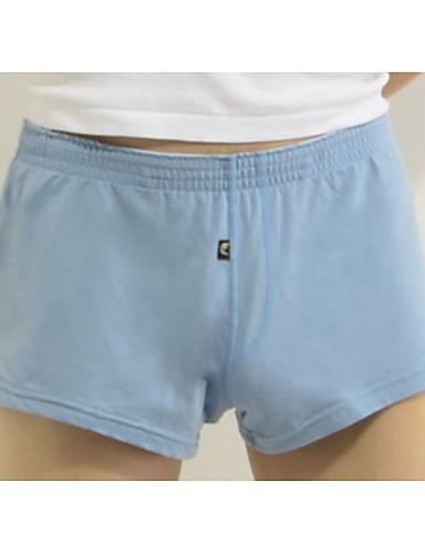 בגדי ריקוד גברים מיקרו-אלסטי בינוני (מדיום) תחתונים(כותנה)1 פול אודם ירוק בהיר כחול בהיר