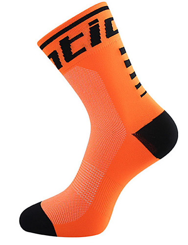 cheap Cycling Clothing-Compression Socks Sport Socks / Athletic Socks Cycling Socks Men's Women's Bike / Cycling Breathability Stretchy Softness 2pcs Solid Color Nylon Black / Blue Black / Yellow Black / Orange One-Size