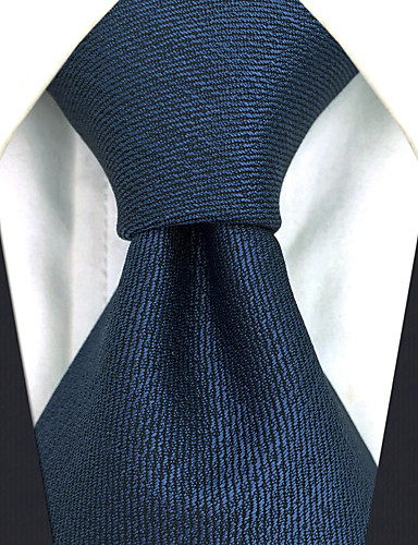 עניבת צווארון - אחיד משי עבודה בסיסי בגדי ריקוד גברים