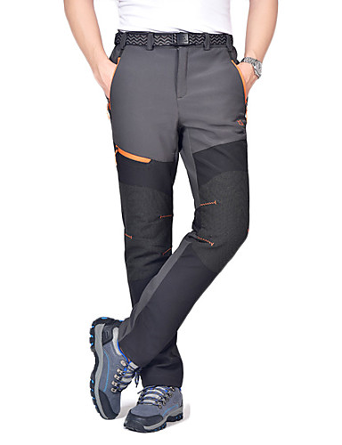 cheap Outdoor Clothing-Men's Hiking Pants Softshell Pants Outdoor Waterproof Thermal / Warm Windproof Winter Fleece Pants / Trousers Camping / Hiking Hunting Climbing Black Dark Grey Army Green XL XXL XXXL / Breathable