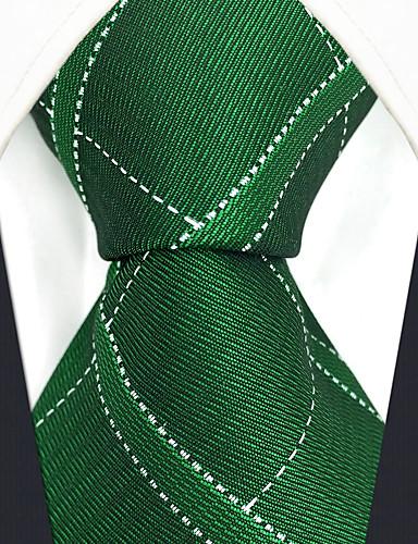 עניבת צווארון - קולור בלוק משובץ דמקה סרוג חוטי זהורית עבודה בסיסי בגדי ריקוד גברים