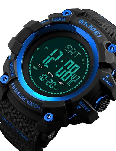 SKMEI שעונים יום יומיים שעוני ספורט שעוני אופנה Emitters עמיד במים, בלותוט', לוח שנה אדום / ירוק / כחול / מצפן / שעון עצר