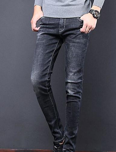 בגדי ריקוד גברים בסיסי ג'ינסים מכנסיים אחיד