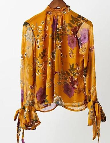 פרחוני / שבכה / פפיון חולצה - בגדי ריקוד נשים שרוכים לכל האורך / אביב