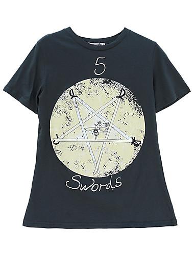 T-shirt Damskie Bawełna Solidne kolory Rękaw nietoperz