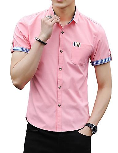 Koszula Męskie Podstawowy Moda miejska,Nadruk Jendolity kolor
