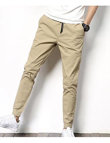 Męskie Typu Chino Spodnie - Nadruk, Jendolity kolor