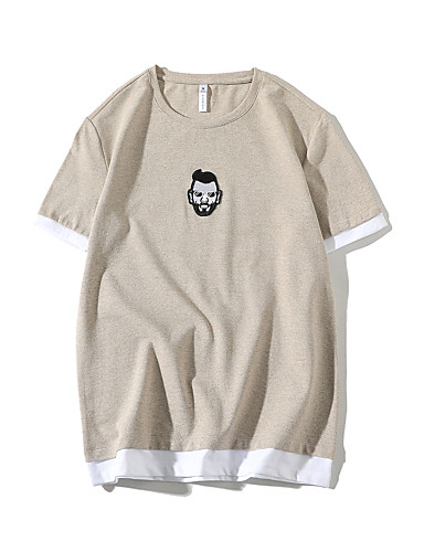 T-shirt Męskie Podstawowy Moda miejska Jendolity kolor Portret