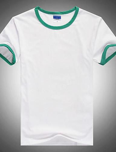 voordelige Uitverkoop-Heren Actief Standaard T-shirt Kleurenblok Ronde hals Oranje / Korte mouw / Lang