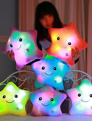 billige Dukker, leker og fulle dyr-Luminous pillow Led Light Pillow Start Shape Romantik Kosedyr Smuk comfy Jente Leketøy Gave