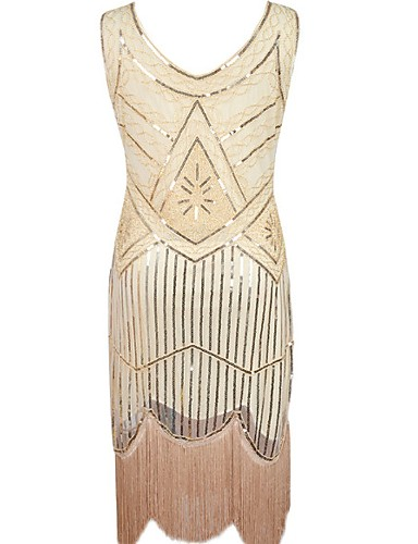 Vintage Tea Length Dress 1920s
