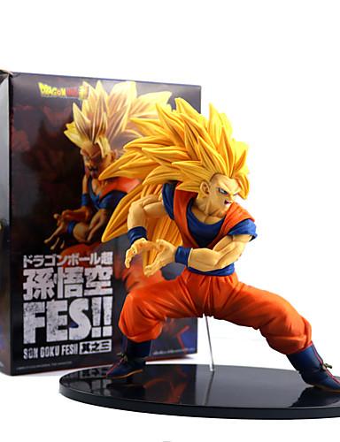 abordables Cosplay de Animes-Las figuras de acción del anime Inspirado por Bola de Dragón Son Goku CLORURO DE POLIVINILO 19 cm CM Juegos de construcción muñeca de juguete
