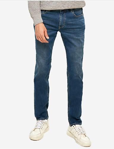 Męskie Luźna Jeansy Spodnie Solidne kolory