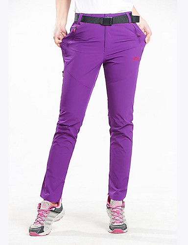 cheap Hiking Trousers & Shorts-Women's Solid Color Hiking Pants Outdoor Breathable Quick Dry Stretchy Autumn / Fall Spring Summer Spandex Pants / Trousers Hunting Hiking Outdoor Exercise Black Fuchsia XL XXL XXXL