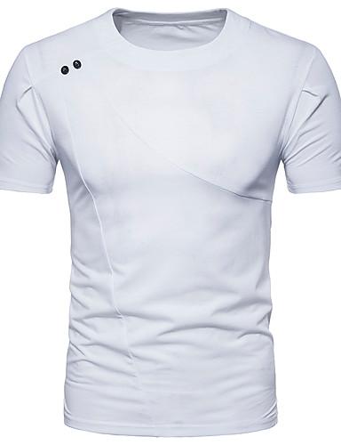 T-shirt Męskie Podstawowy / Moda miejska Sport Okrągły dekolt Szczupła - Solidne kolory / Krótki rękaw