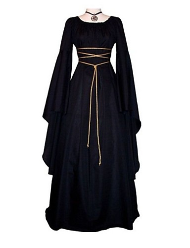 aa48d45f00 Cosplay Outfits Medieval Costume Women s Dress Ball Gown Black Vintage  Cosplay Long Sleeve Flare Sleeve Ankle Length Long Length 6612094 2019 –   22.49