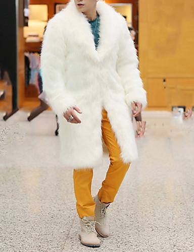 Men's Weekend Basic Long Faux Fur Coat Basic