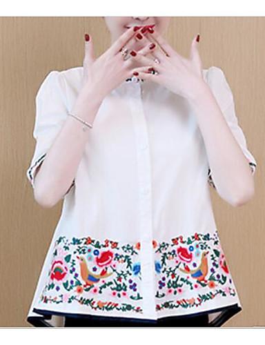 T-shirt Damskie Plisy Bawełna Jendolity kolor Rękaw motylek