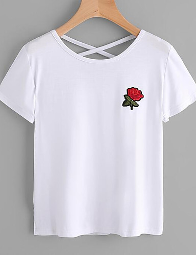 T-shirt Damskie Moda miejska Wyjściowe Kwiaty