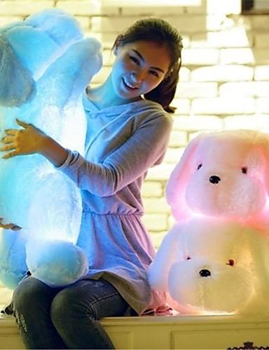 voordelige Uitverkoop-Romantiek Honden Knuffels & Pluche dieren LED Lamp Schattig comfy LED Unisex Meisjes Speeltjes Geschenk 1 pcs