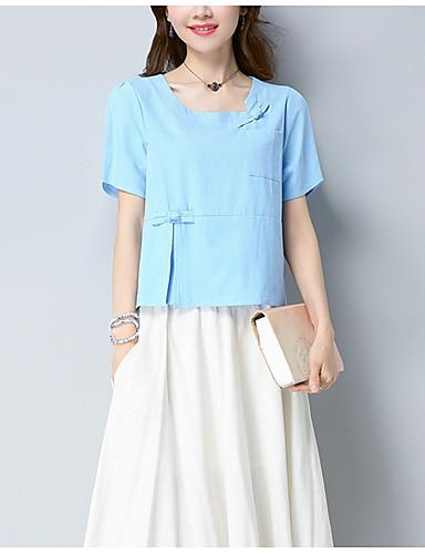 Koszula Damskie Vintage Jendolity kolor