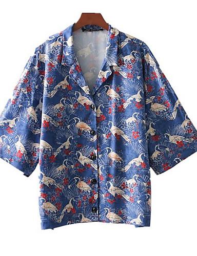 Koszula Damskie Podstawowy Kołnierzyk koszuli Zwierzę