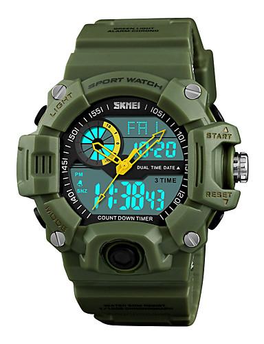 a51a1d1c1 رخيصةأون ساعات رقمية-SKMEI رجالي ساعة رياضية ساعة رقمية ياباني رقمي جلد  اصطناعي أسود /