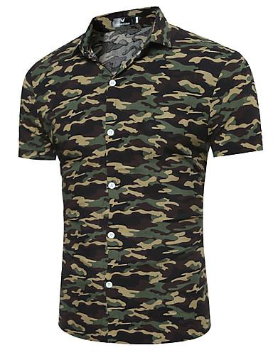 Erkek Gömlek Desen, kamuflaj Temel Ordu Yeşili