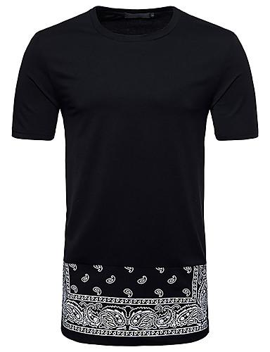 T-shirt Męskie Wzornictwo chińskie Kwiaty / Krótki rękaw