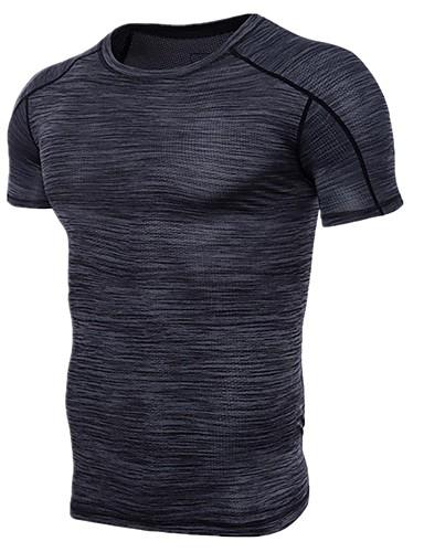 T-shirt Męskie Bawełna Sport Okrągły dekolt Kolorowy blok / Krótki rękaw