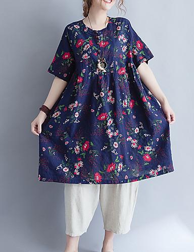 Pentru femei Tricou Bumbac Floral