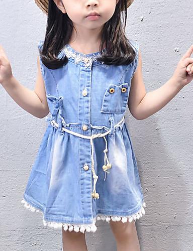 Brzdąc Dla dziewczynek Wielokolorowa Bez rękawów Sukienka