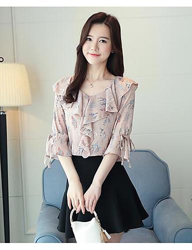 bluza de mătase pentru femei - gât rotund geometric