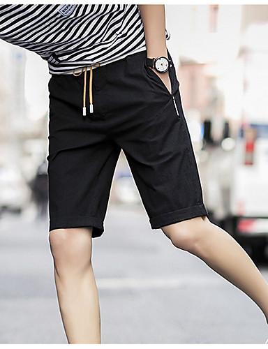 Męskie Podstawowy Typu Chino Spodnie Jendolity kolor