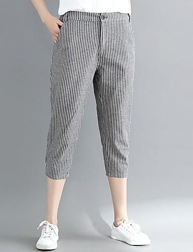 Pentru femei Talie Înaltă Zvelt Harem Pantaloni Dungi / Ieșire