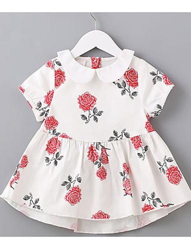 Dziecko Dla dziewczynek Kwiaty Krótki rękaw Sukienka