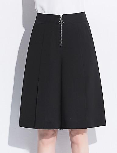 Damskie Rozmiar plus Luźna Spodnie szerokie nogawki Spodnie - Rozcięcie, Jendolity kolor