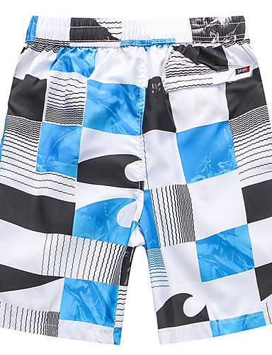 Homens Esportivo Calcinhas, Shorts & Calças de Praia - Geométrica, Estampado Shorts de Natação / 1 Peça / Super Sexy