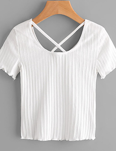 T-shirt Damskie Podstawowy Jendolity kolor