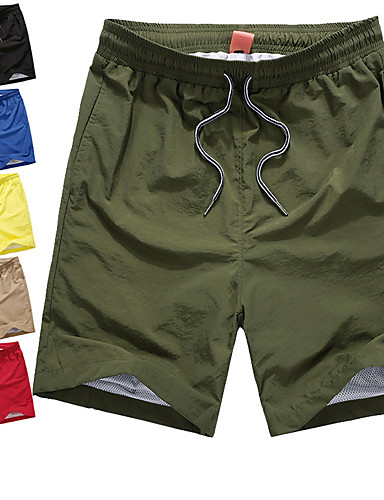 cheap Outdoor Clothing-Men's Hiking Shorts Outdoor Quick Dry Breathability Sweat-Wicking Summer Shorts Bottoms Camping / Hiking Climbing Beach Red Blue Khaki 4XL 5XL 6XL