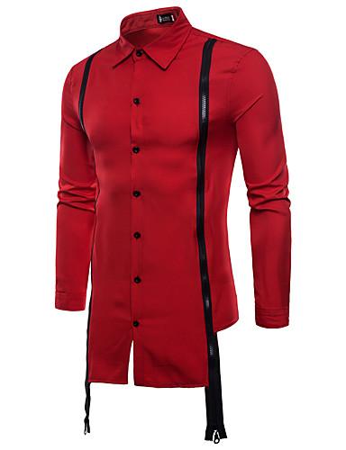Koszula Męskie Podstawowy Solidne kolory / Długi rękaw