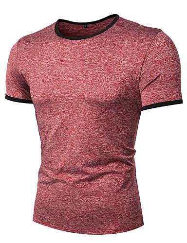 T-shirt Męskie Podstawowy Golf Solidne kolory / Krótki rękaw