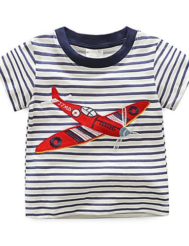 Dzieci / Brzdąc Dla chłopców Prążki Krótki rękaw T-shirt
