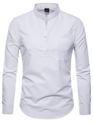 Koszula Męskie Podstawowy Jendolity kolor