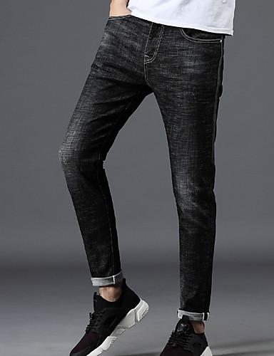 Bărbați Bumbac Blugi Pantaloni Geometric