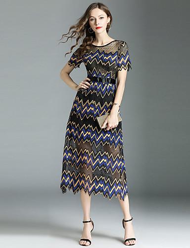 4574fc83465a Per donna Moda città   sofisticato Linea A Vestito - Pizzo