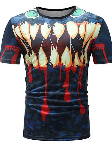Bărbați Tricou De Bază - Geometric / Bloc Culoare