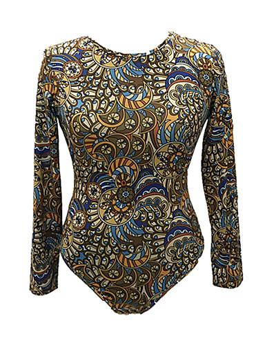 Pentru femei bodysuit De Bază - Geometric Imprimeu